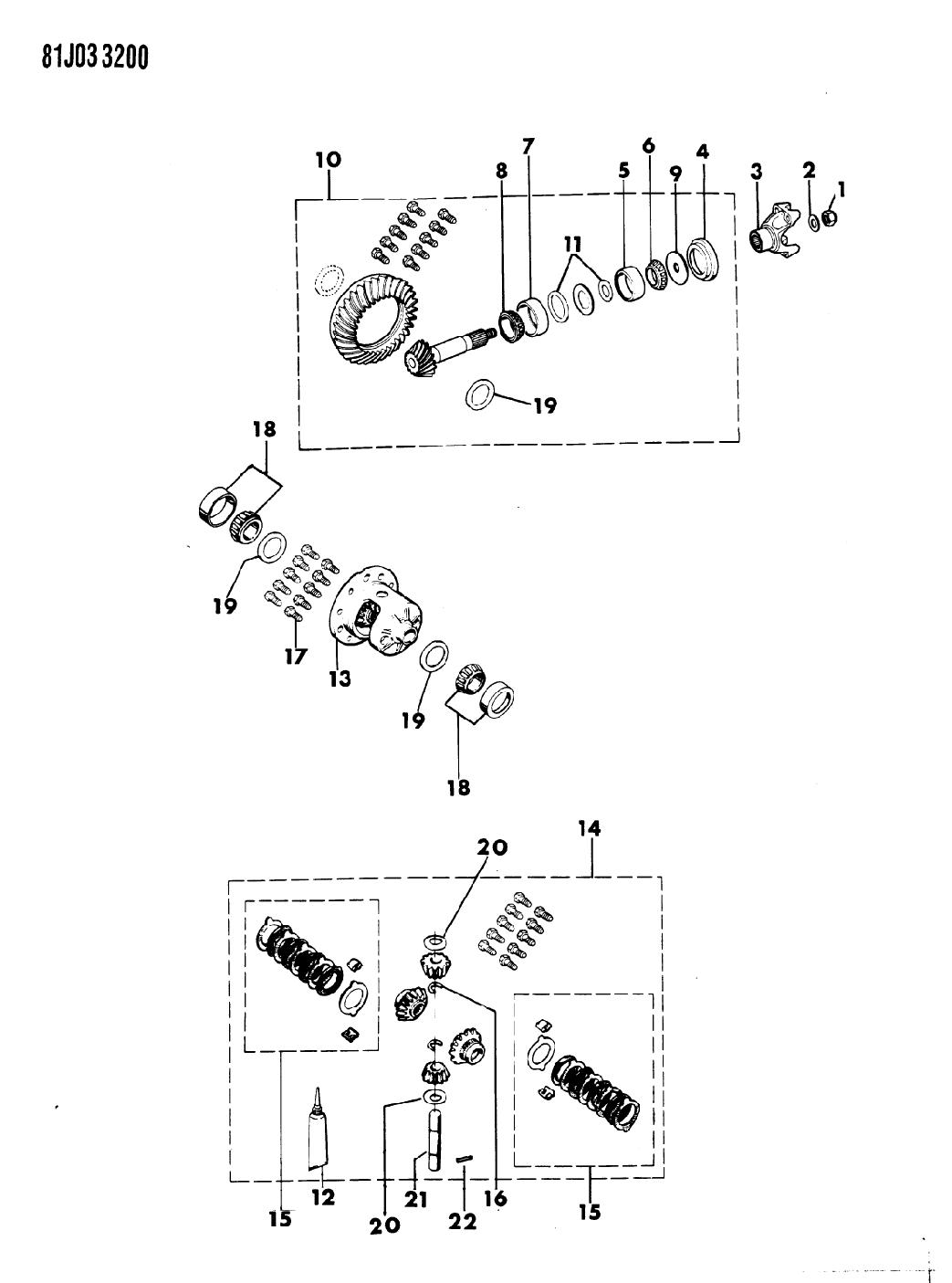 1986 Jeep J10 Differential Gears Mopar Parts Giant Diagram Thumbnail 4