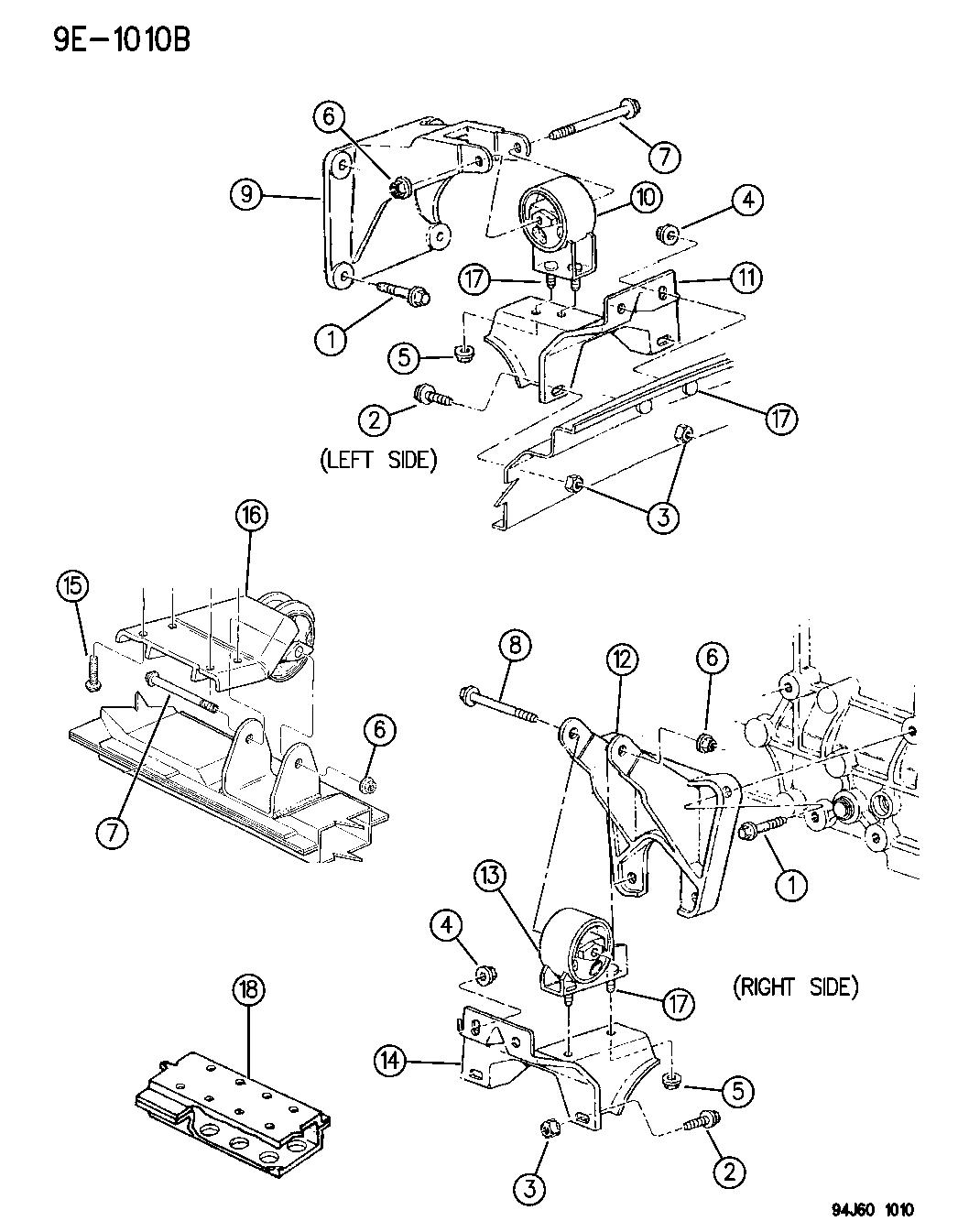 1996 jeep cherokee engine mounts