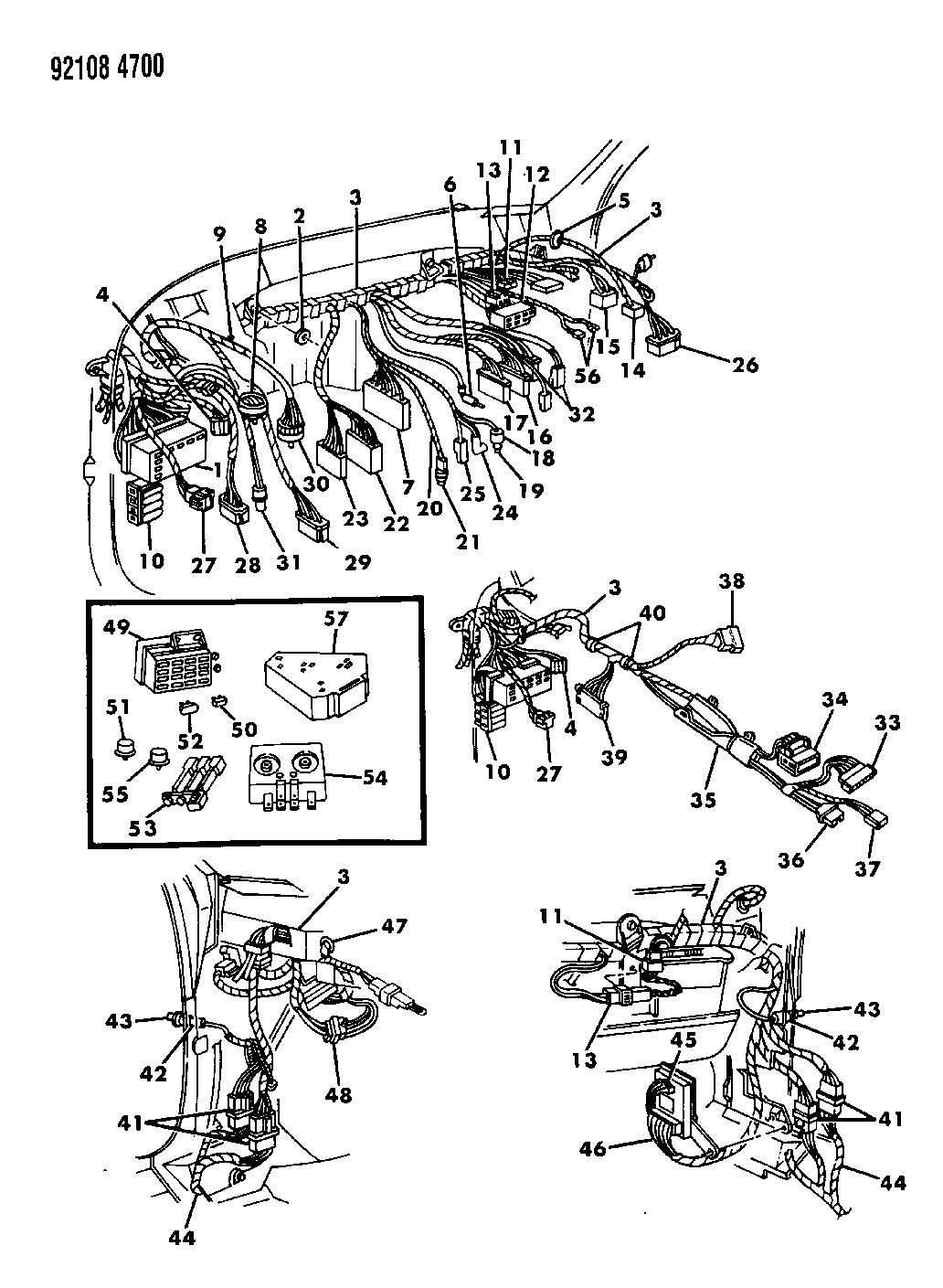 1992 chrysler lebaron sedan wiring