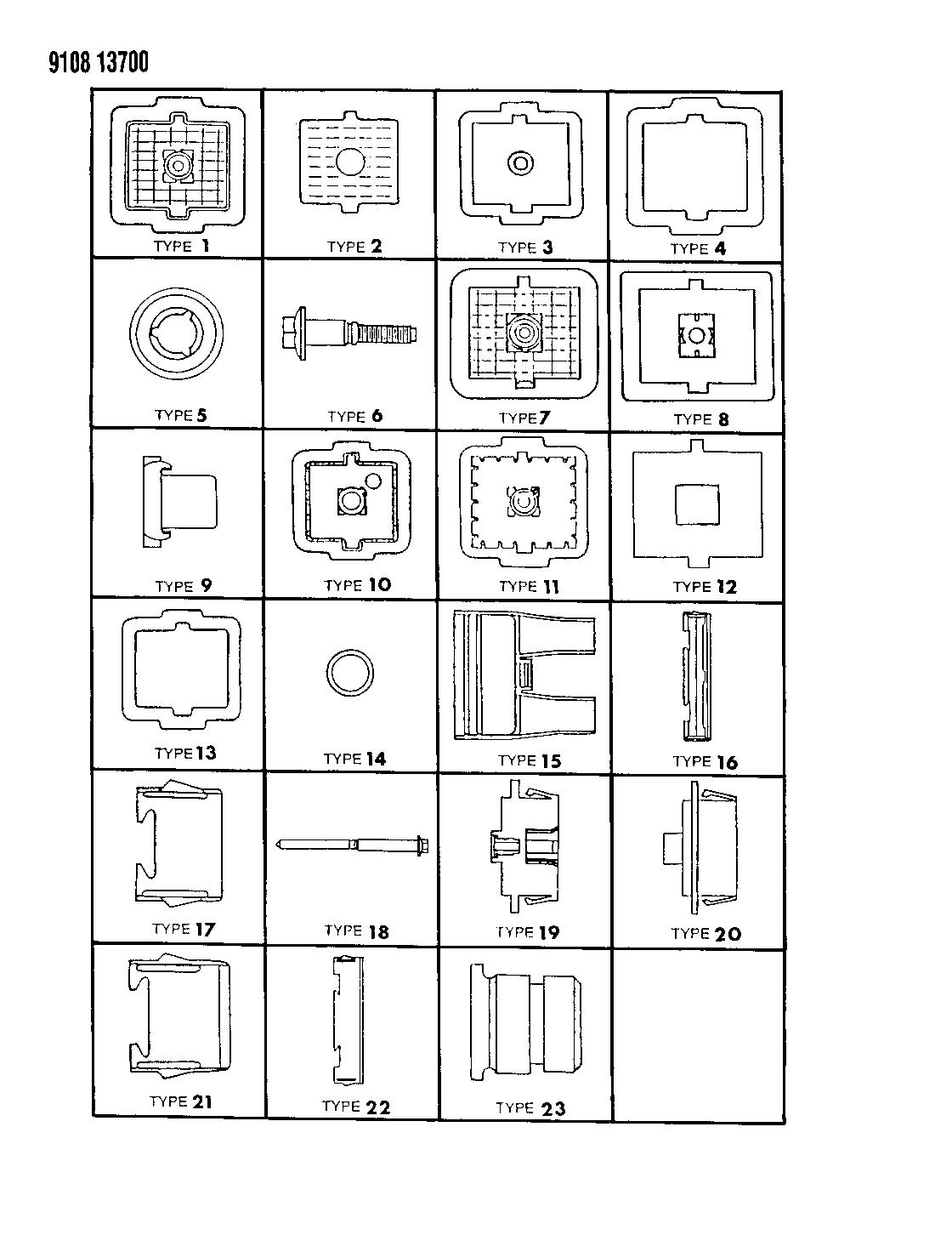 1989 Dodge Omni Bulkhead Connectors Components Wiring Harness