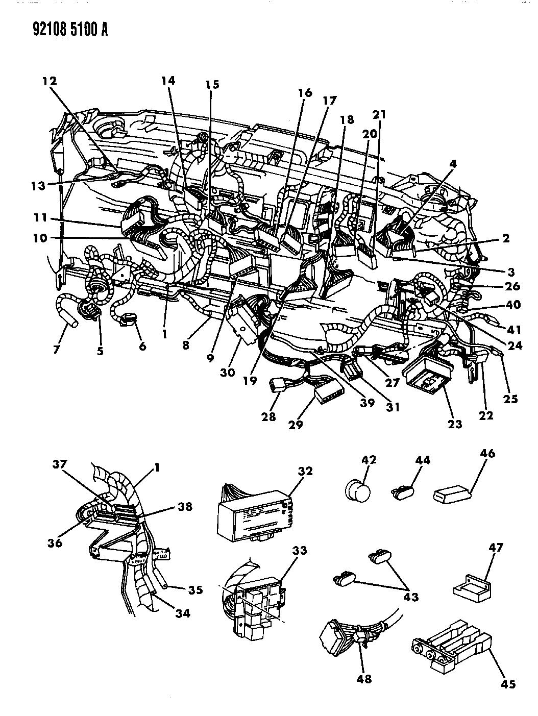 1992 dodge caravan wiring - instrument panel