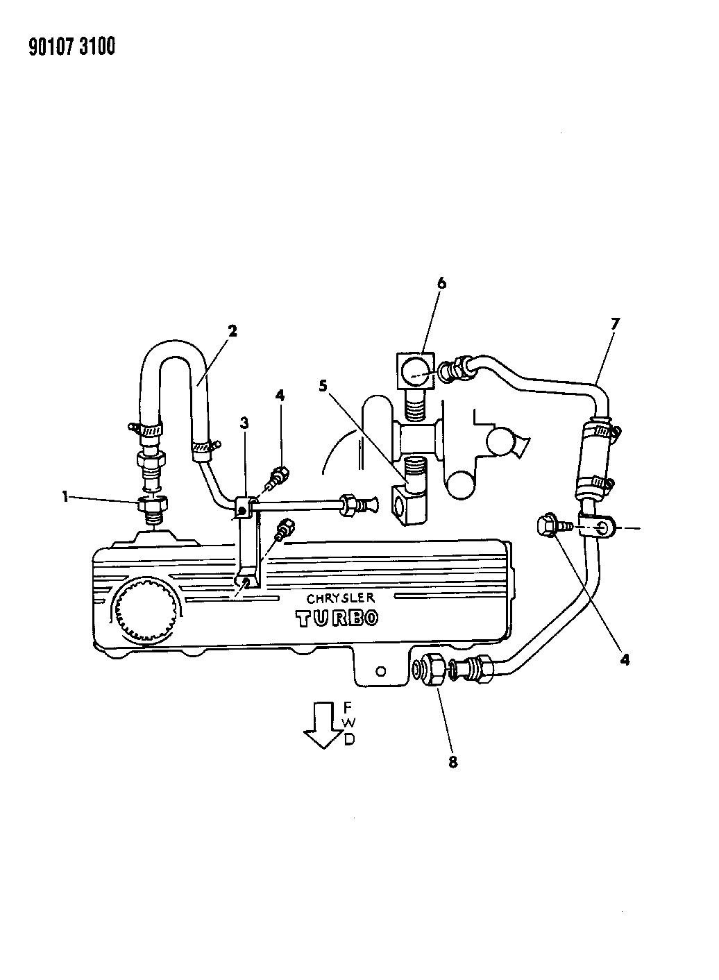1990 Dodge Spirit Turbo Water Cooled System Mopar Parts Giant Wiring Diagram