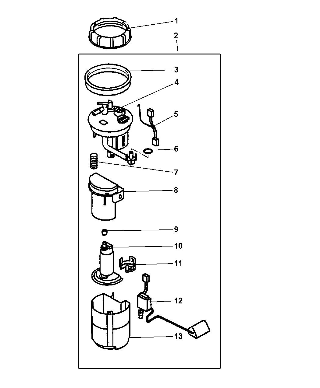 2001 Chrysler Sebring Coupe Fuel Pump & Sending Unit