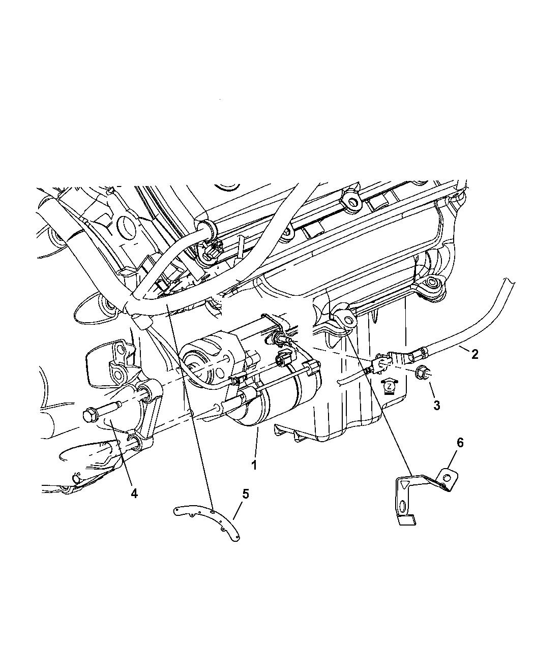 5059201AG - Genuine Mopar WIRING-STARTER