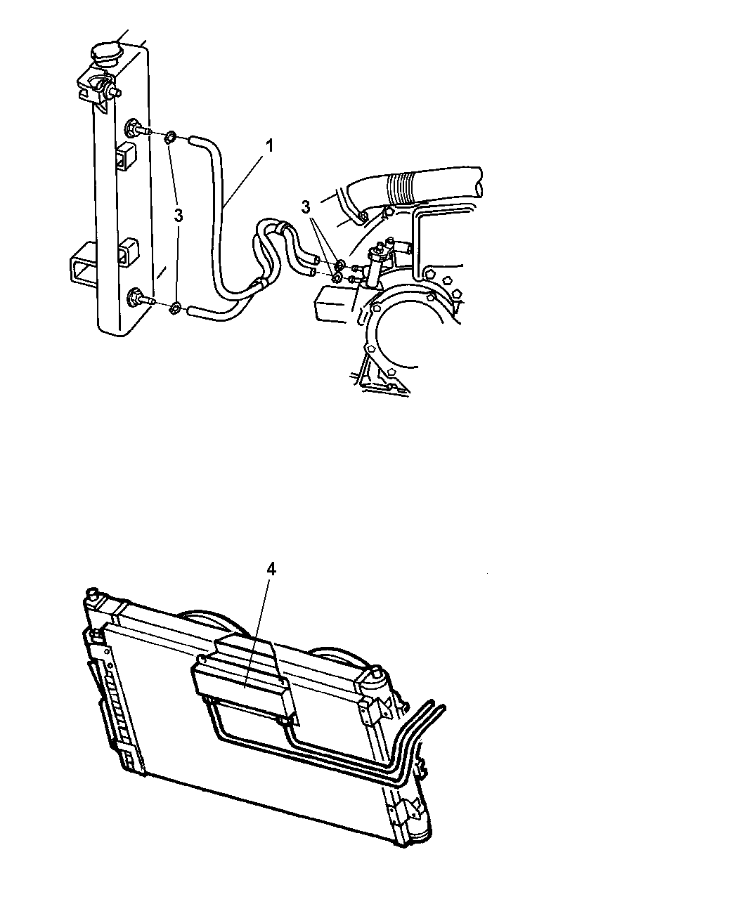 1999 Dodge Caravan Transmission Oil Cooler & Lines
