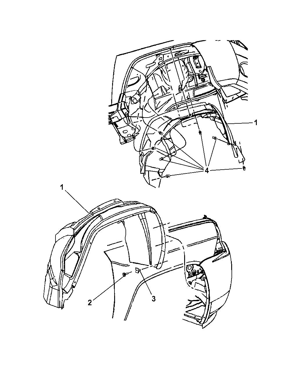 2010 jeep jk engine diagram 5116245af - genuine mopar shield-splash #12