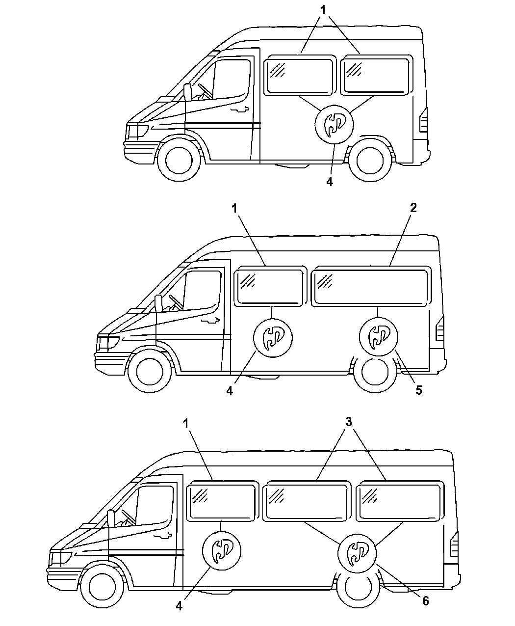 2006 dodge sprinter 2500 side glass  fixed