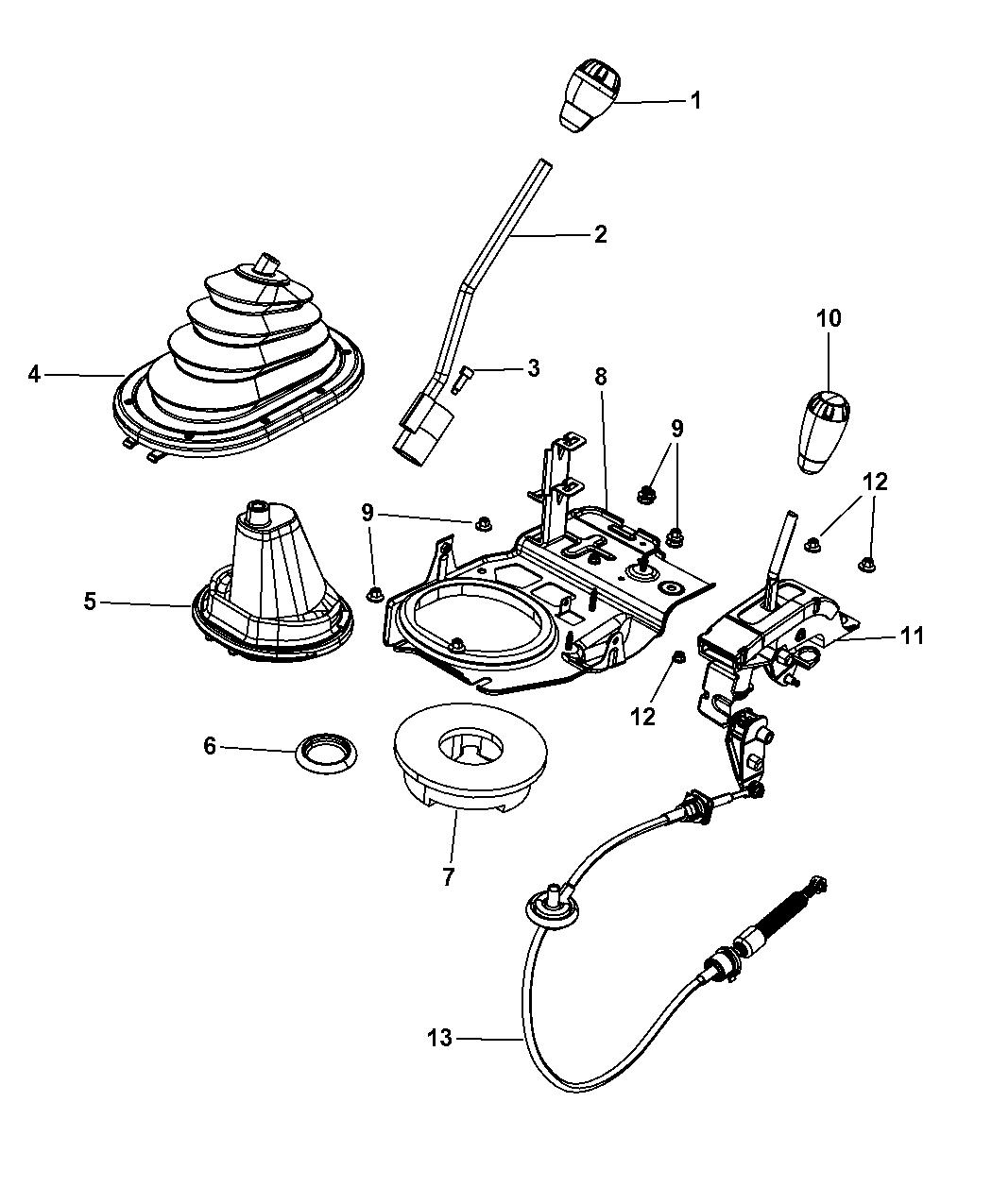 2010 jeep wrangler gear shift boot knob and bezel rh moparpartsgiant com