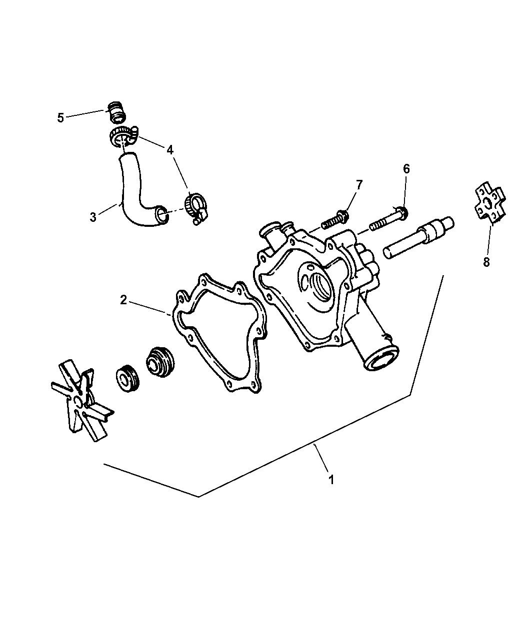 68382493AA  Genuine Mopar PUMPWATER