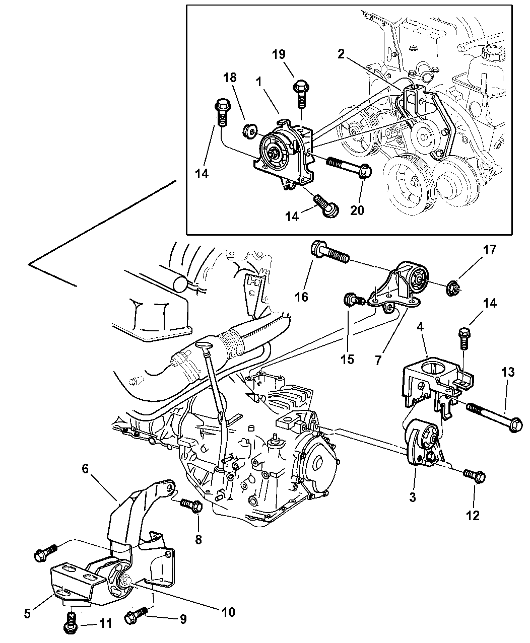 1997 dodge grand caravan engine mounts - thumbnail 1