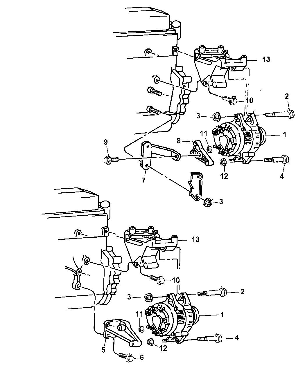 53010224ab Genuine Jeep Bracket Alternator And Compressor