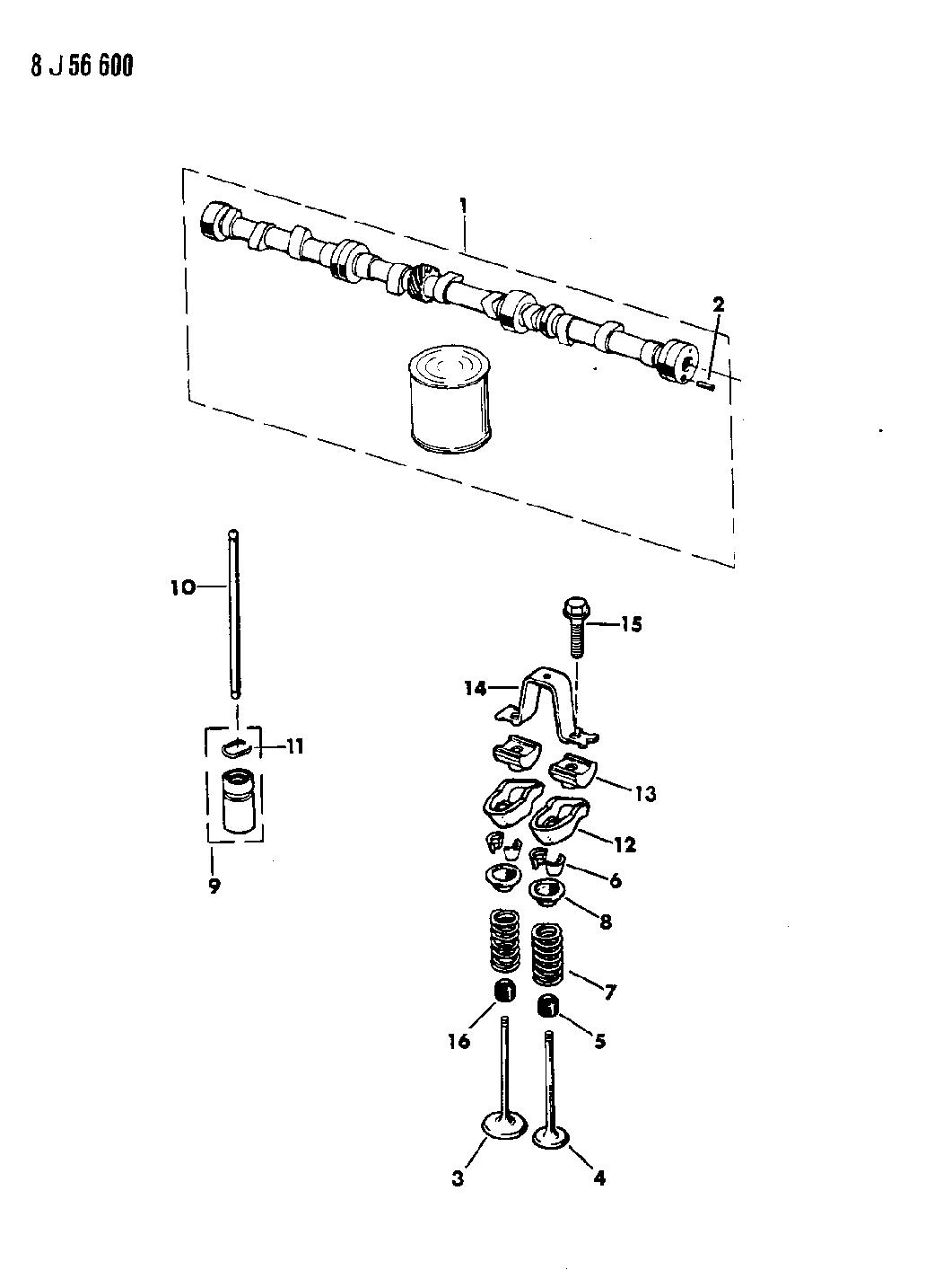 1989 Jeep Wrangler Camshaft Valves Mopar Parts Giant Engine Diagram Thumbnail 1