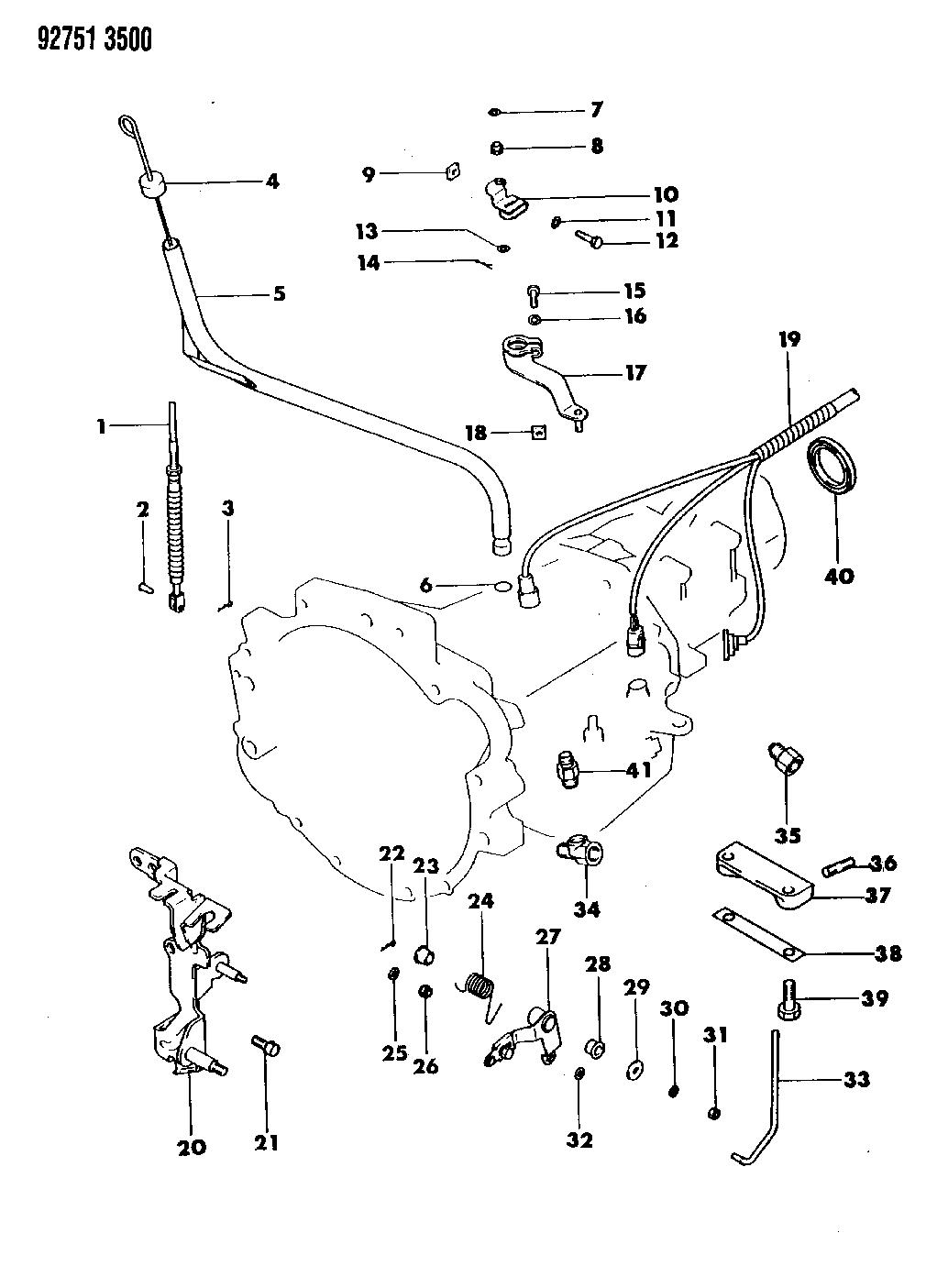 1993 Dodge Colt Transmission Miscellaneous Attaching Parts