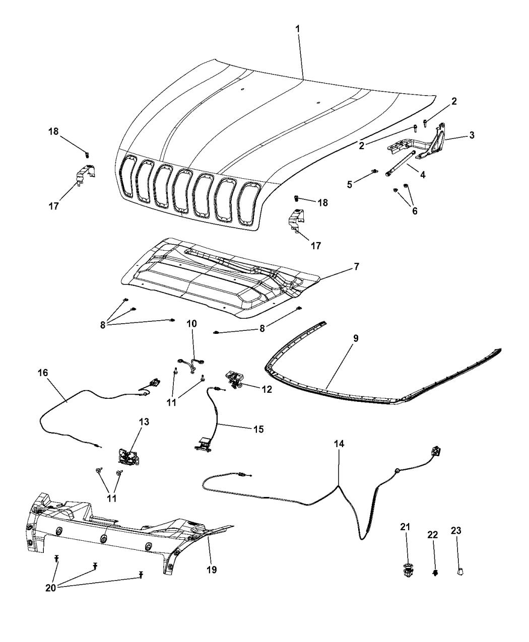 mopar 68103664ac  jeep cherokee parts diagram #12