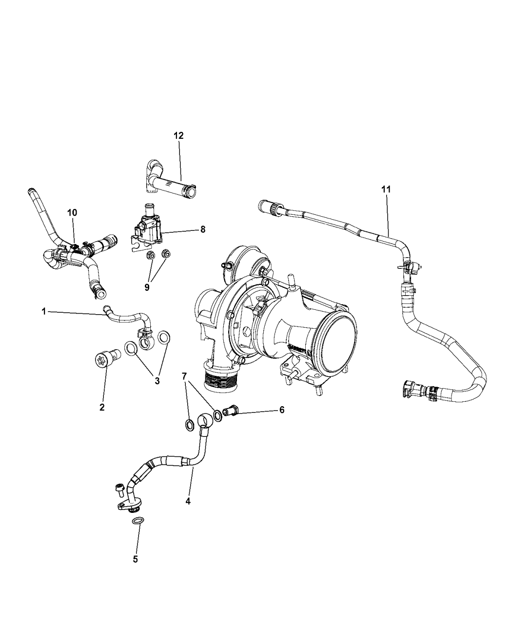 2013 Dodge Dart Turbocharger Cooling System