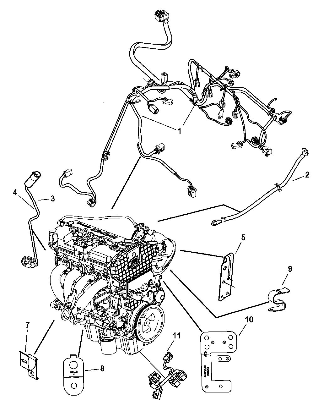 5087158AE - Genuine Mopar WIRING-ENGINE