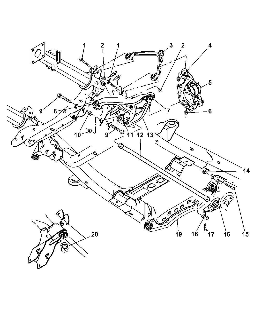 52113209ab Genuine Mopar Arm Lower Control
