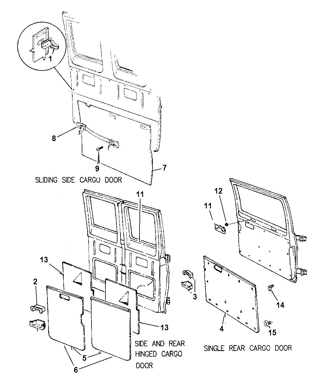 1998 Dodge Ram Van Door Trim Panel - Mopar Parts Giant