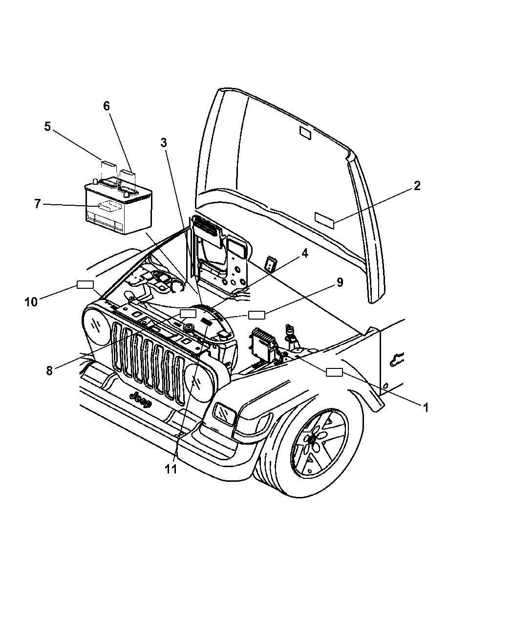 53031758aa - genuine mopar label-belt routing 2005 jeep liberty stereo wiring diagram