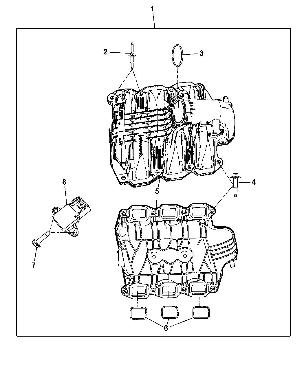 2011 Dodge Nitro Intake Manifold - Thumbnail 1