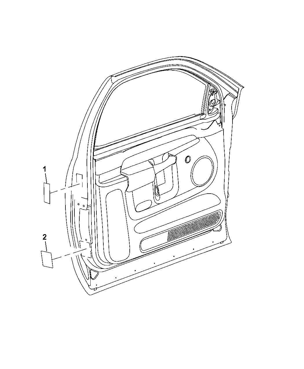 2010 Dodge Ram 1500 Front Door Of Labels