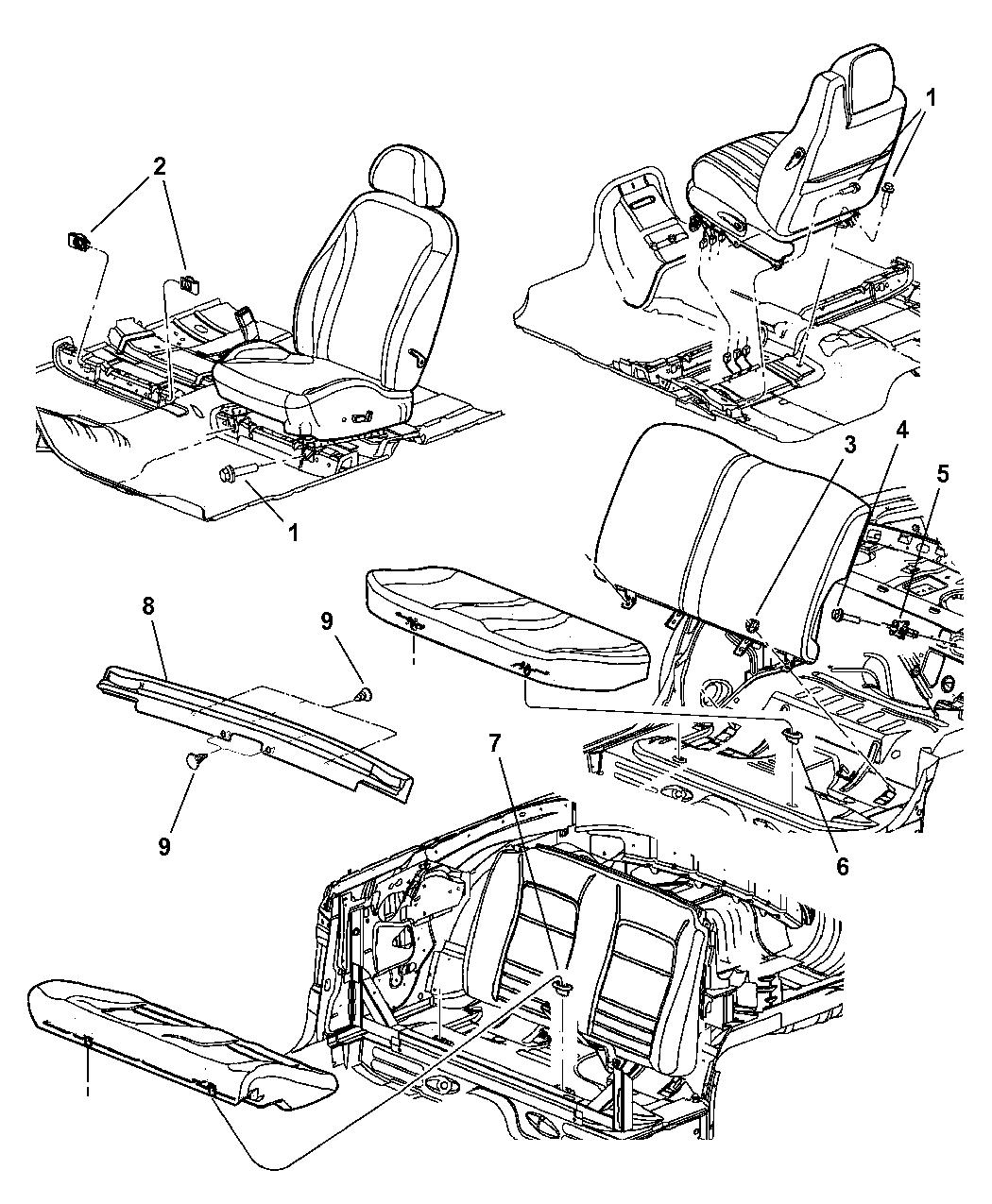 PE19DX9AC  Genuine    Chrysler    PANELSEAT BASE