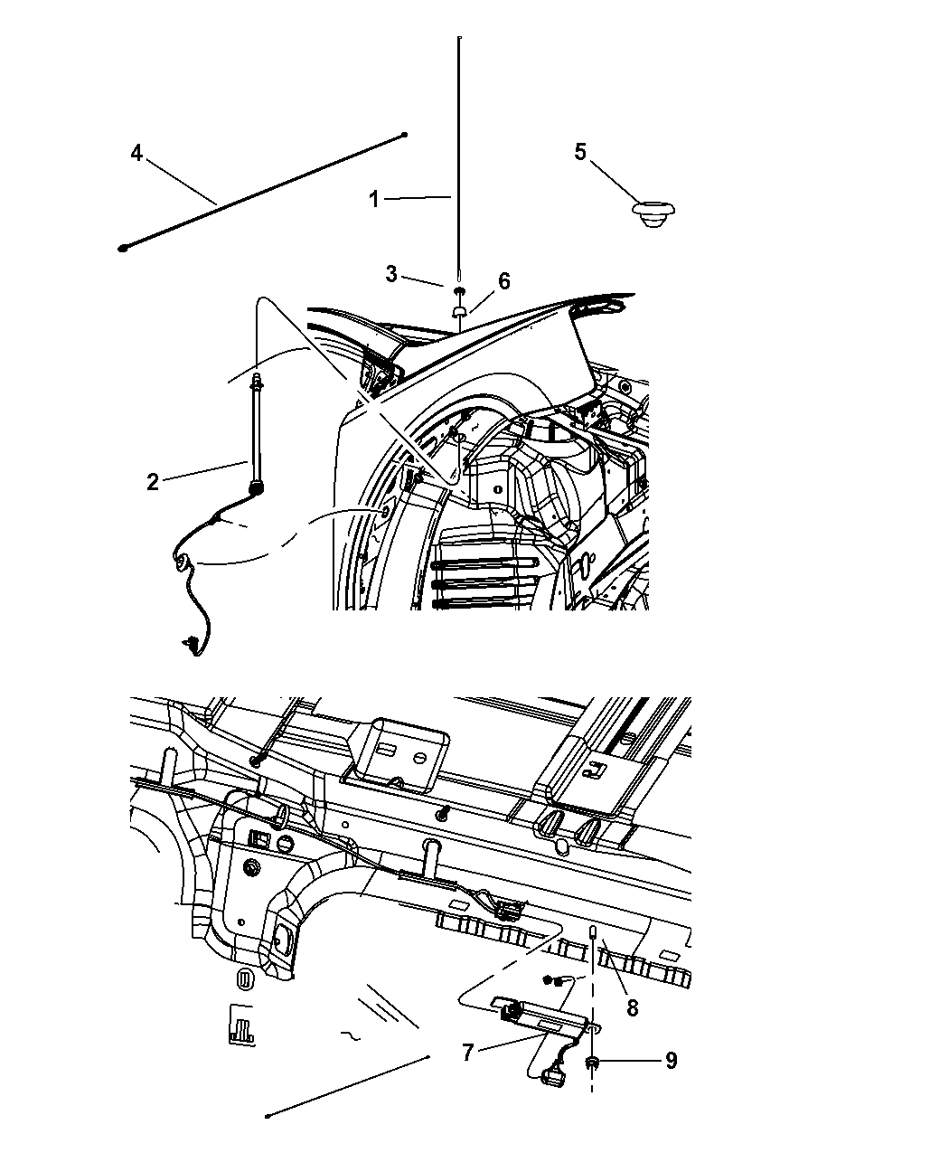 Genuine Chrysler 5064178AC Radio Antenna