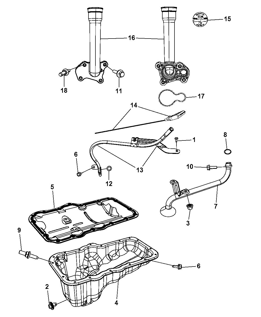 53021747AF - Genuine Mopar INDICATOR-ENGINE OIL LEVEL