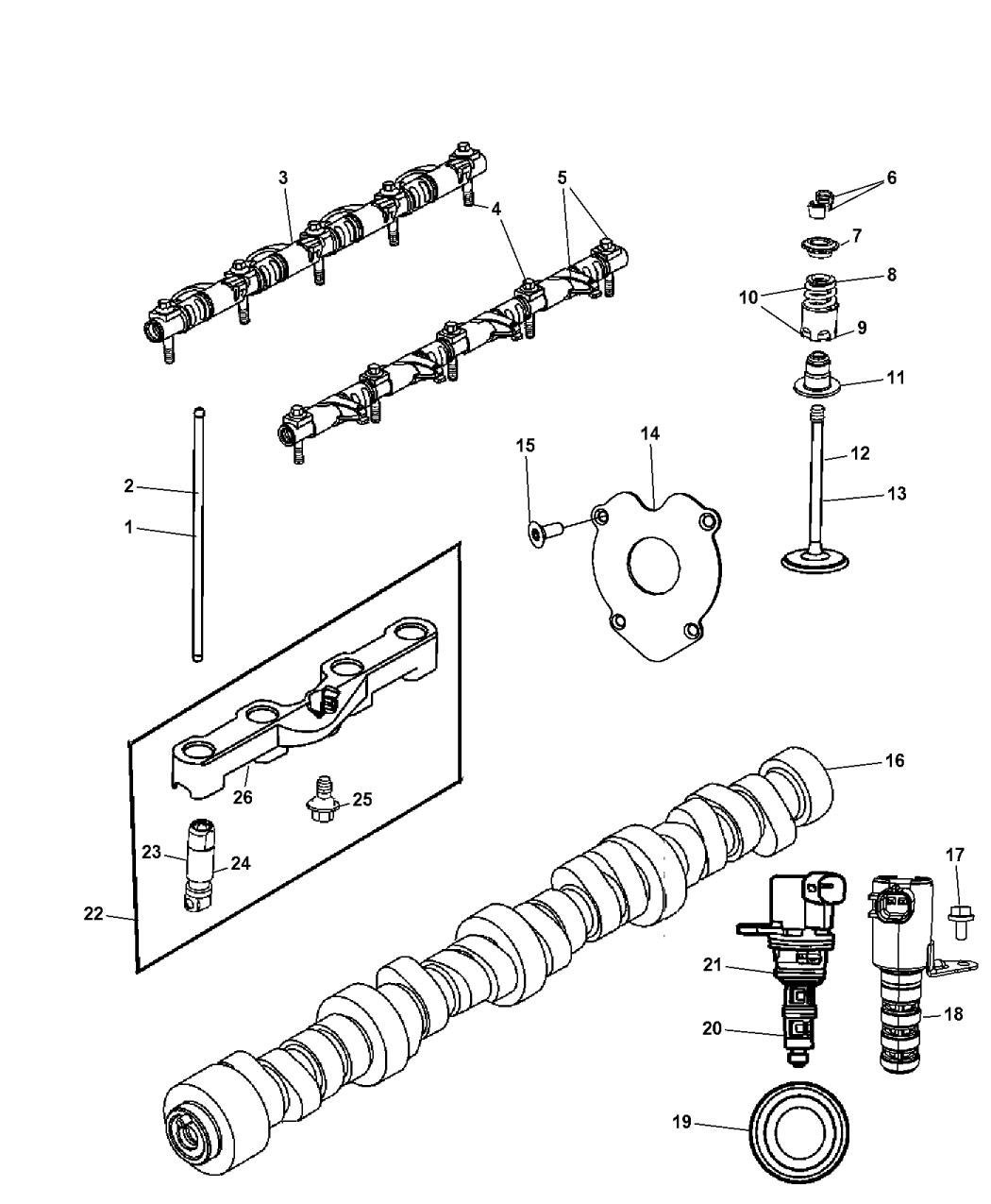 Genuine Chrysler 53022372AA Engine Camshaft