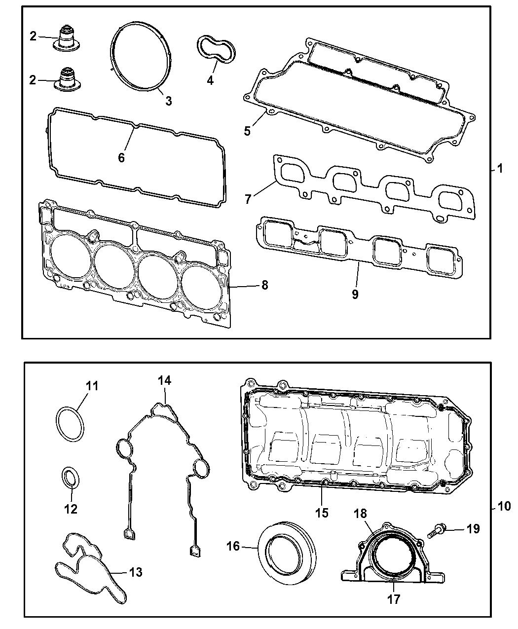 2008 Dodge Charger Engine Gasket Packages Mopar Parts Giant 08 Diagram Thumbnail 1