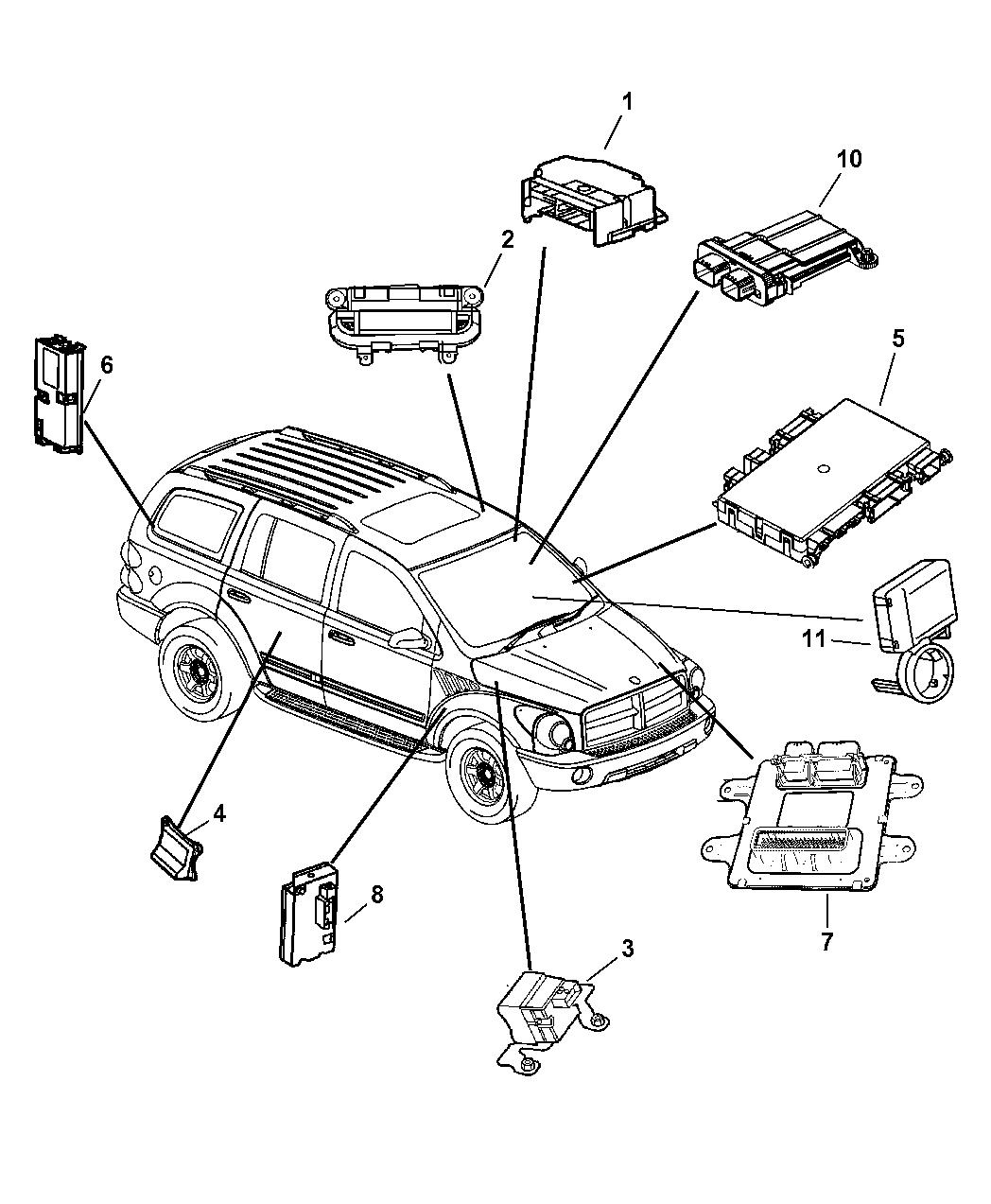 56040661ag Genuine Dodge Module Front Control