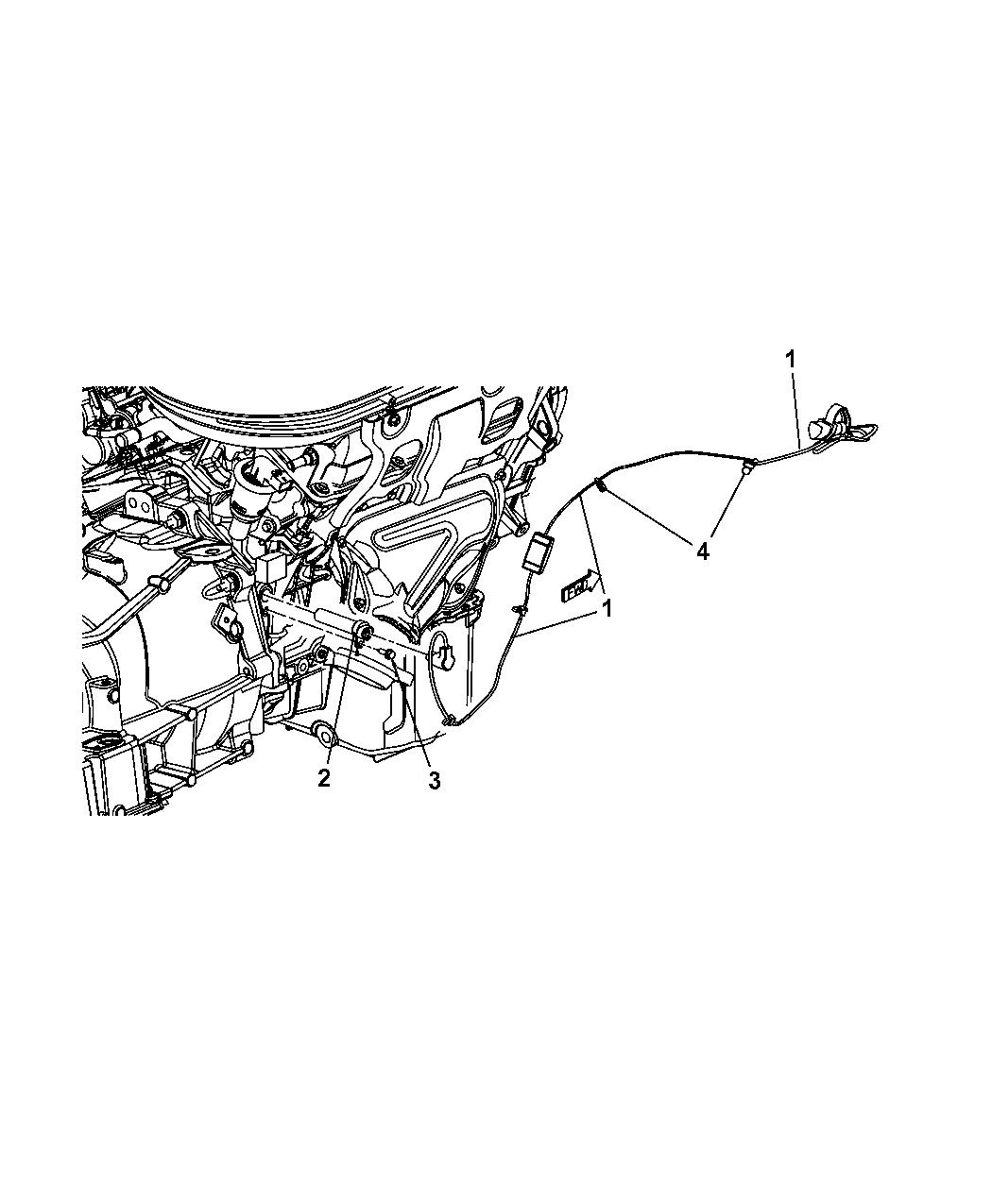 2014 Dodge Avenger Engine Cylinder Block Heater