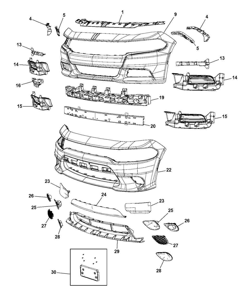 2016 Dodge Charger Fascia Front Mopar Parts Giant