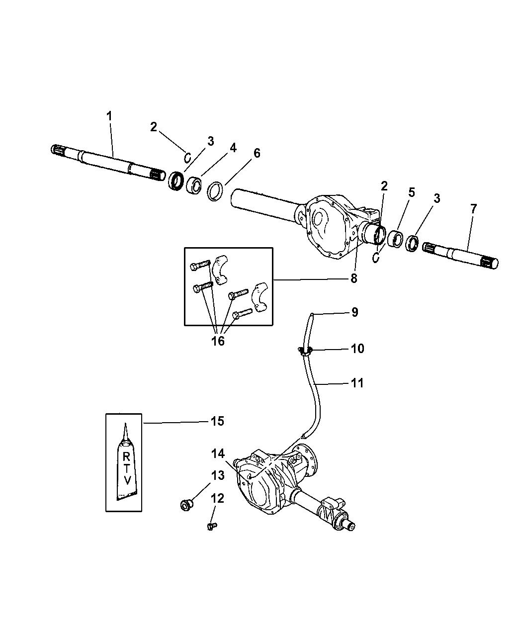 52069887ad genuine dodge shaft axle