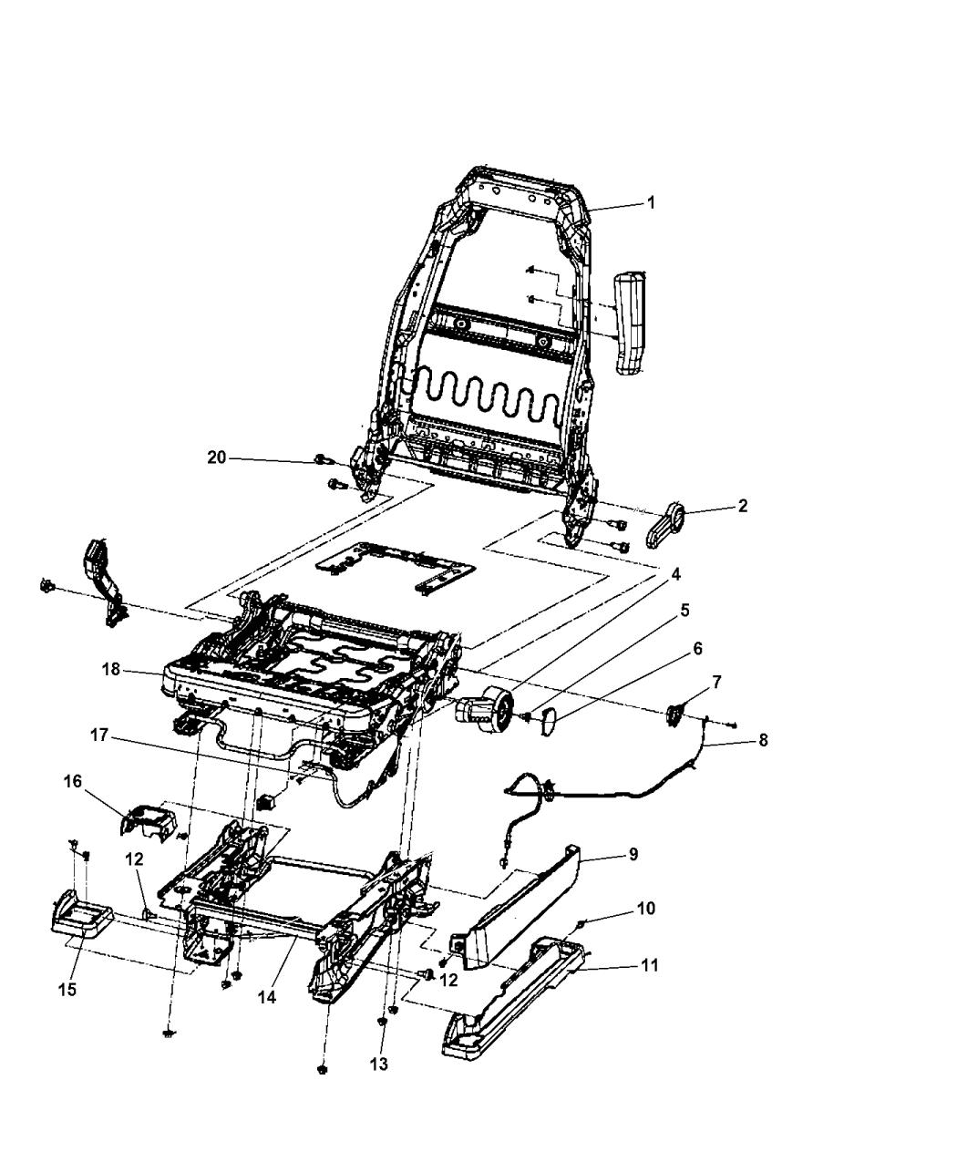 2012 Jk Jeep Seat Parts Diagram