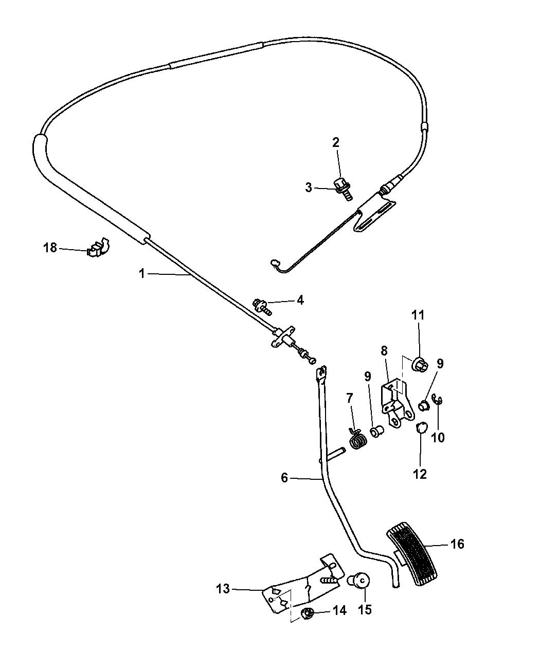 Genuine Mopar Throttle Cable MR297586