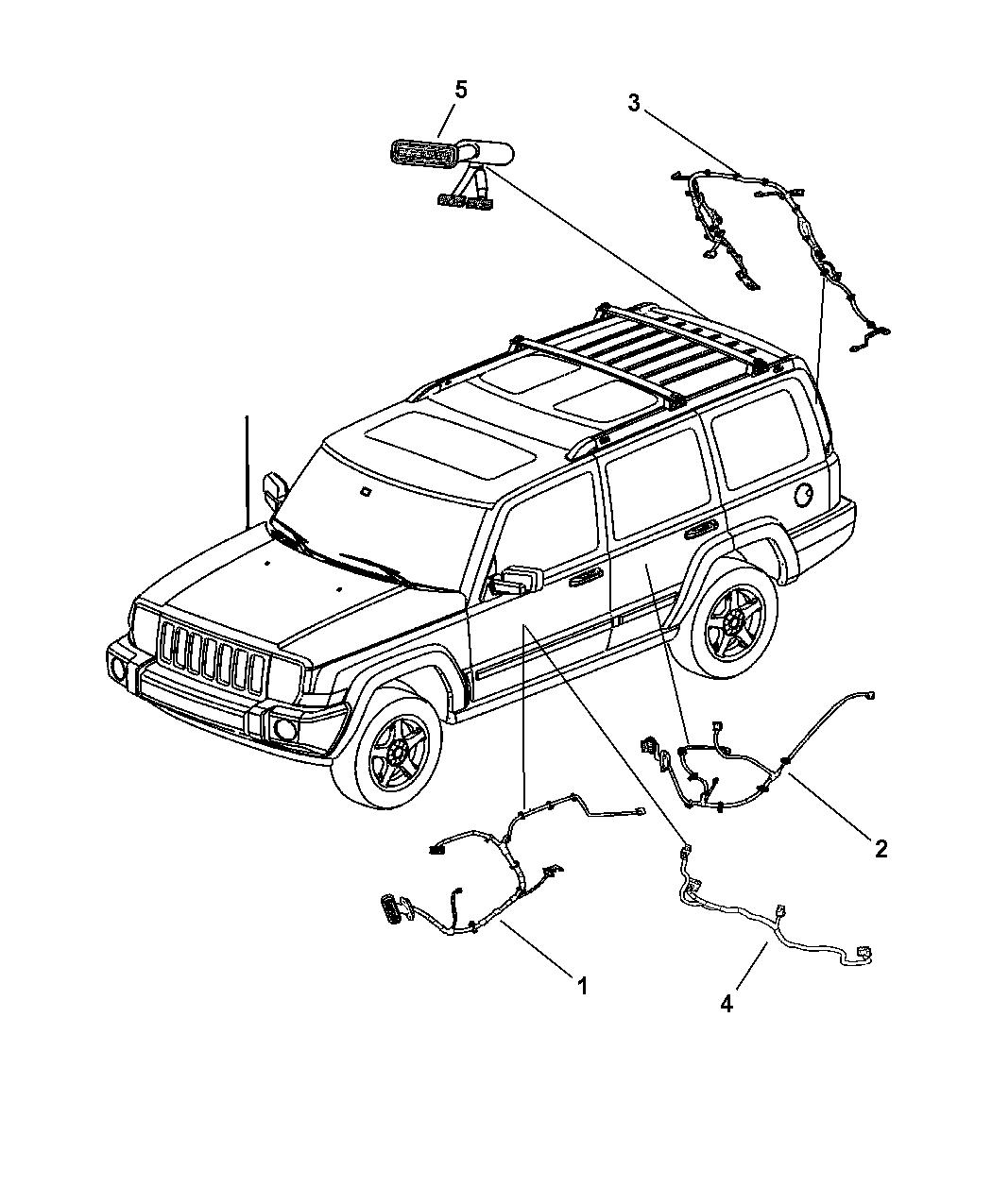 2006 Jeep Commander Wiring - Doors  U0026 Liftgate