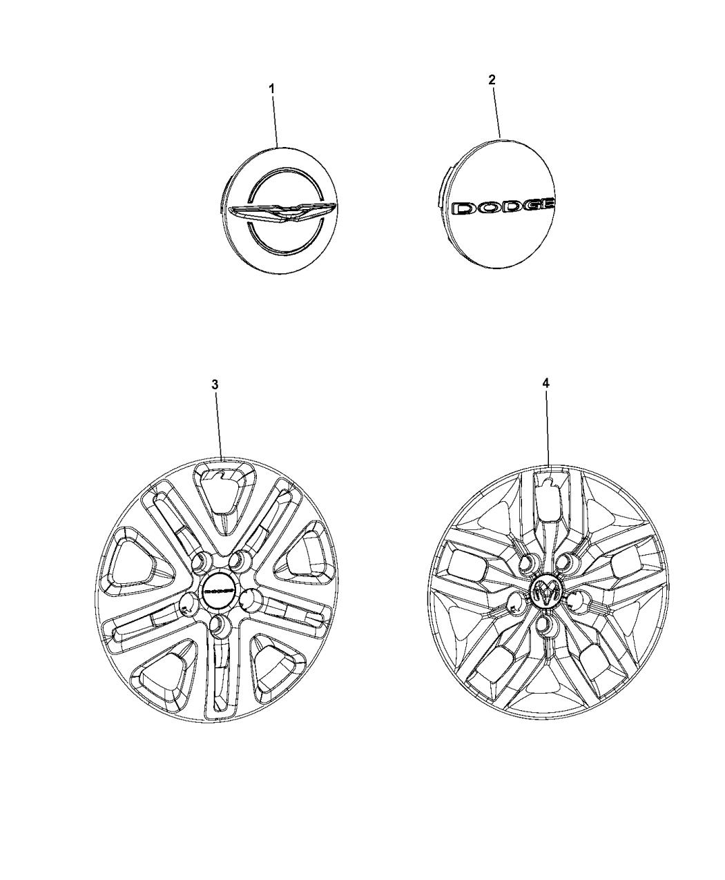 2016 Dodge Grand Caravan Wheel Covers  U0026 Center Caps