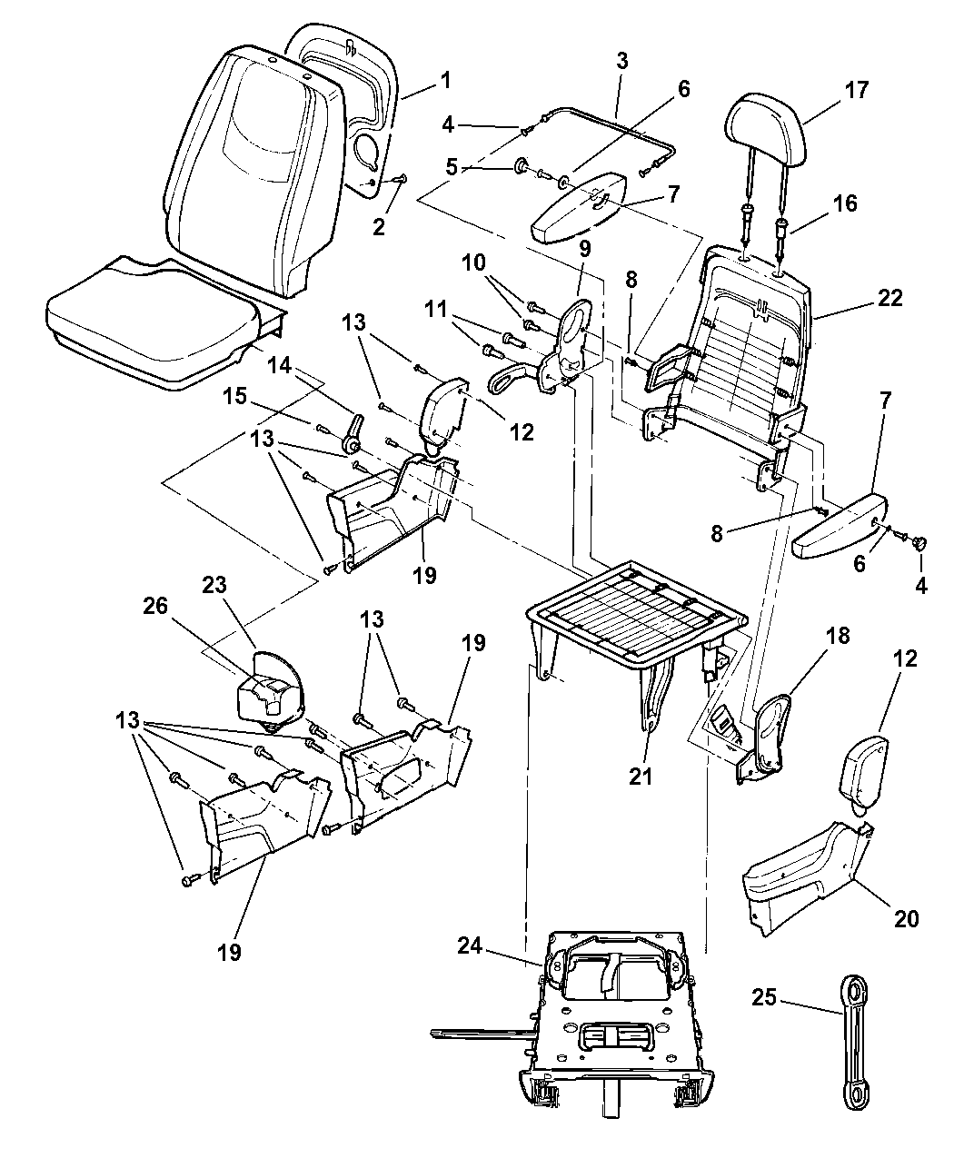 2006 Chrysler Town And Country Interior Parts