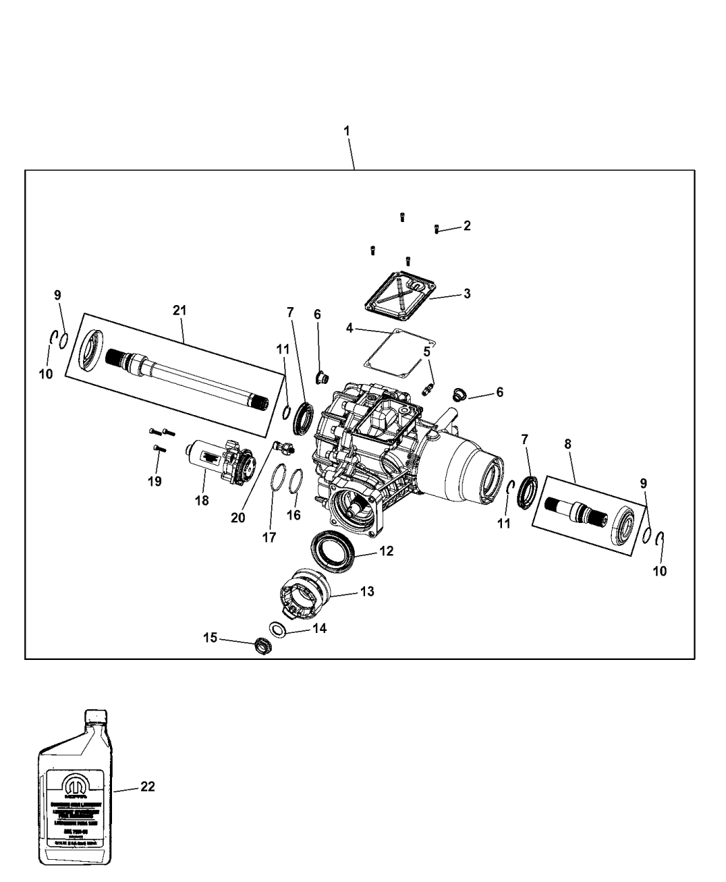 2016 Jeep Cherokee Housing & Differential With Internal