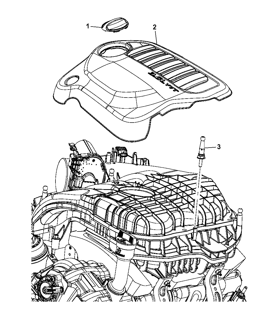 2012 Dodge Journey Engine Cover & Related Parts - Thumbnail 1