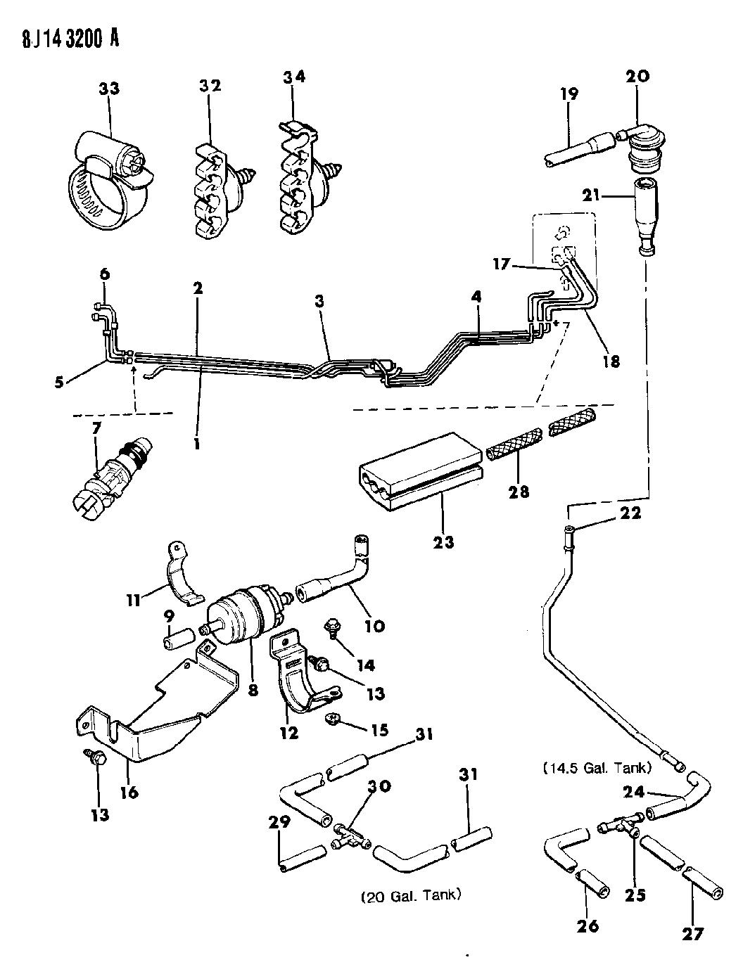 53004047 - Genuine Mopar CONNECTOR-VENT TUBE TO ROLLOVER VALVE