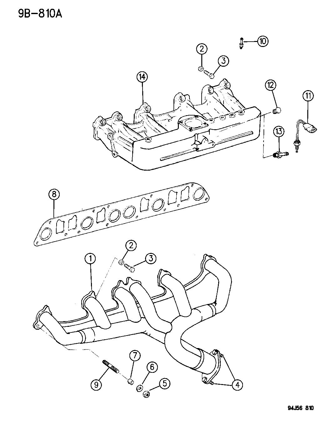 53010238 genuine mopar gasket intake exhaust manifold. Black Bedroom Furniture Sets. Home Design Ideas