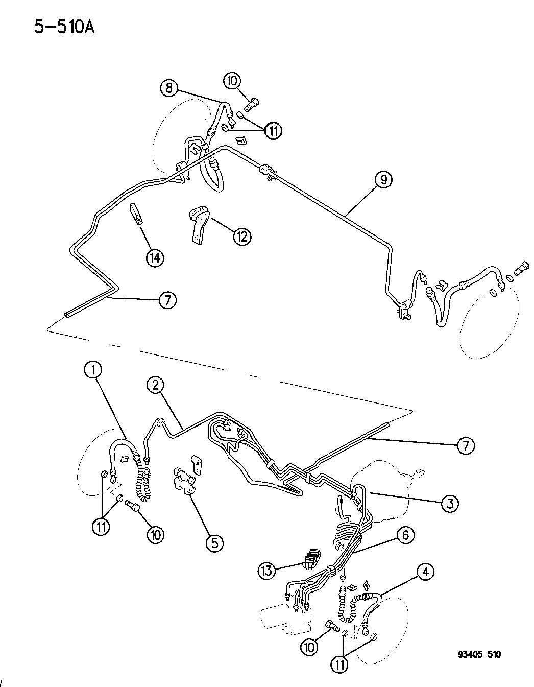 1994 Dodge Intrepid Lines & Hoses, Brake (Proportioning