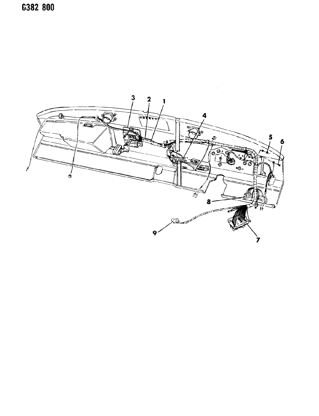 1987 Dodge D350 Instrument Panel Wiring