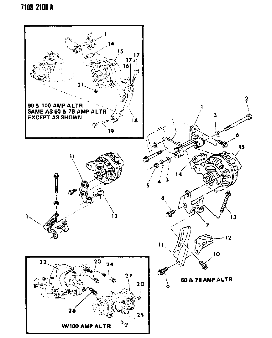 1987 Dodge Grand Caravan Alternator Mounting Wire Diagrams