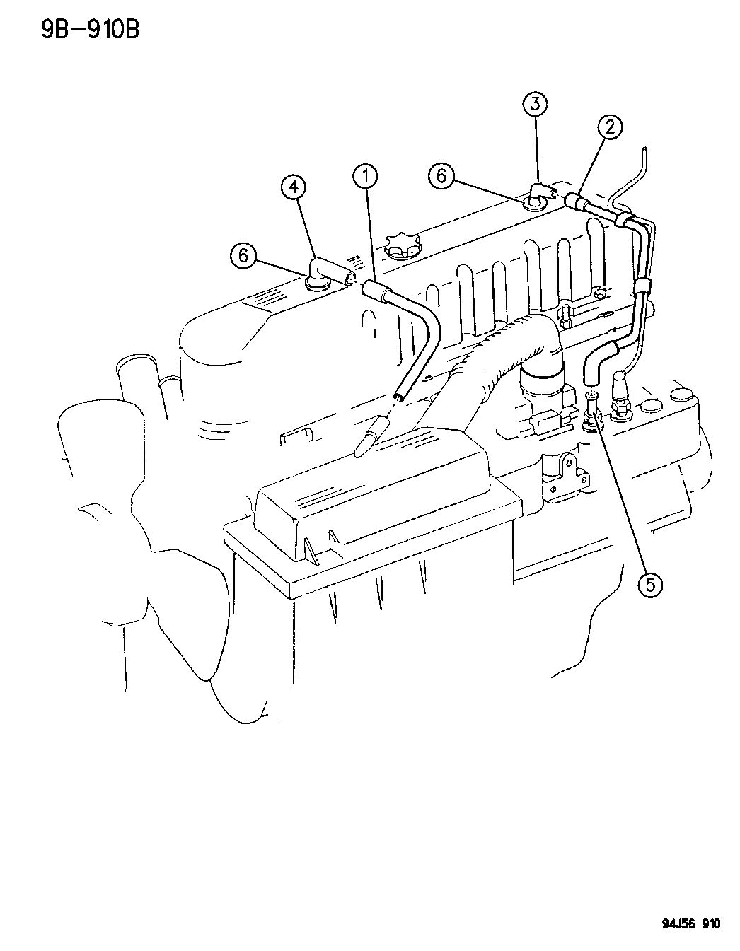 1995 Jeep Wrangler Crankcase Ventilation Oil Separator 95 Engine Schematics Thumbnail 1