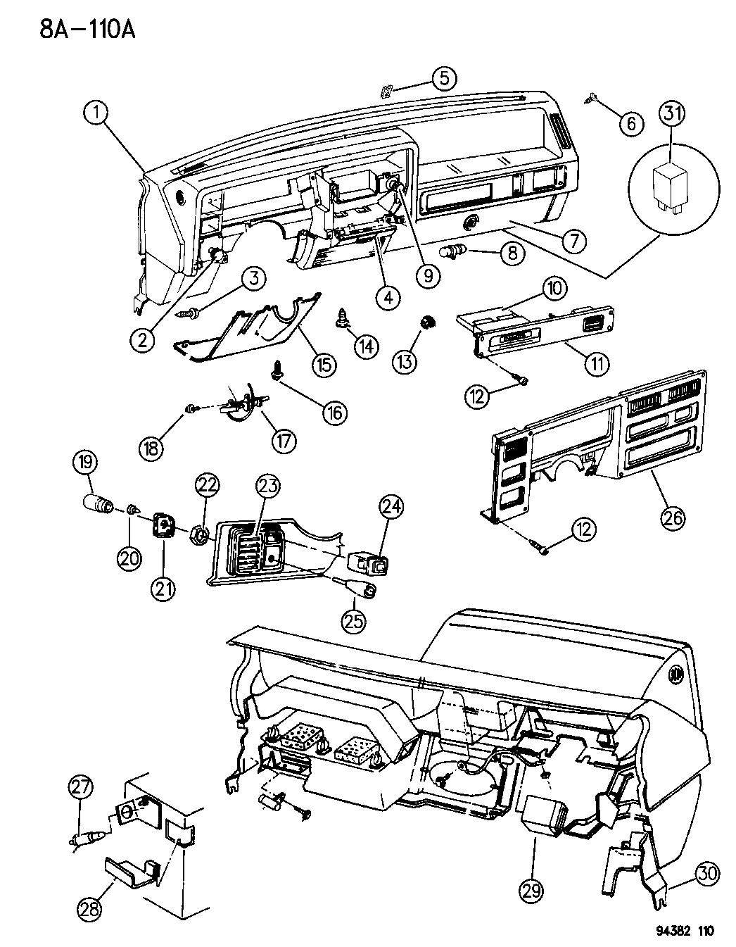 1994 Dodge Dakota Instrument Panel
