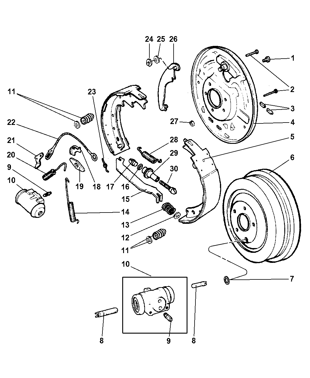 2002 Jeep Liberty Brakes, Rear