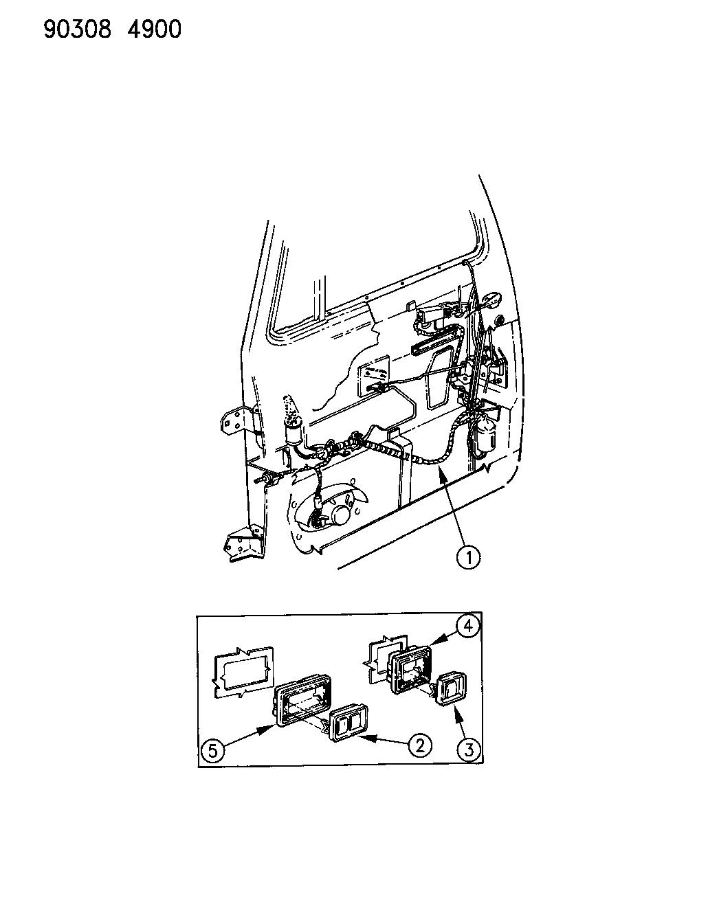 1990 Dodge D150 Wiring Door Mopar Parts Giant 90 Diagram